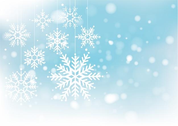 Navidad y año nuevo desenfoque bokeh de luz