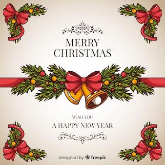 Navidad y año nuevo fondo