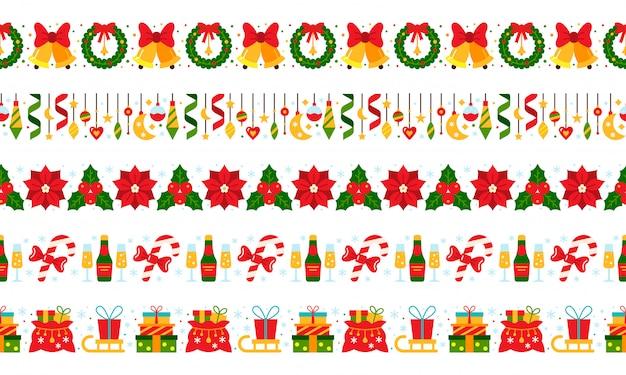 Navidad, año nuevo fronteras