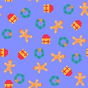 Navidad y año nuevo de patrones sin fisuras, papel digital.