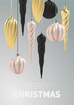 Navidad con árbol de navidad juguetes de nácar rosa