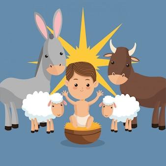Navidad bíblica relacionada con la imagen de los iconos