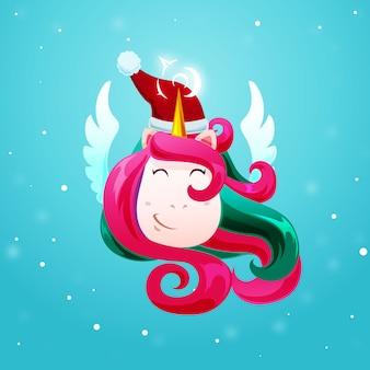 Navidad brillante corte unicornio