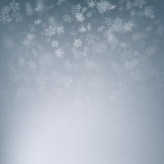 Navidad cayendo nieve. textura de nieve blanca azul. invierno nevando cielo.