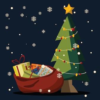Navidad conjunto ilustración vectorial