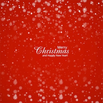 Navidad de copos de nieve grandes y pequeños en colores rojos