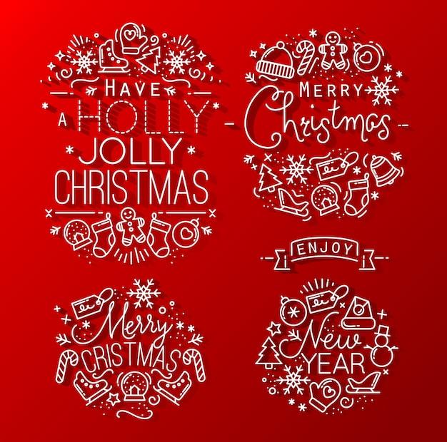 Navidad decorativa roja