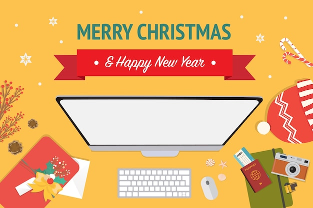 Navidad y feliz año nuevo banner