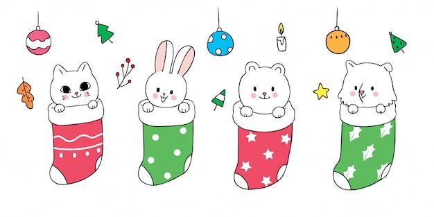 Navidad linda de dibujos animados