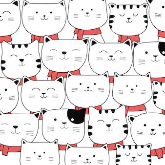 Navidad lindo bebé gato patrón