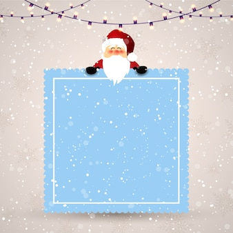 Navidad con un lindo diseño de santa