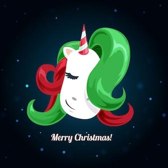 Navidad lindo moda unicornio