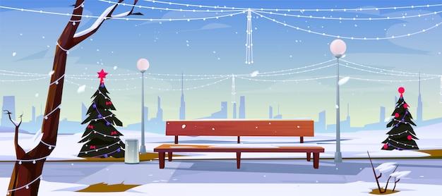 Navidad en parque de la ciudad