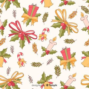 Navidad patrón hermoso de la vendimia