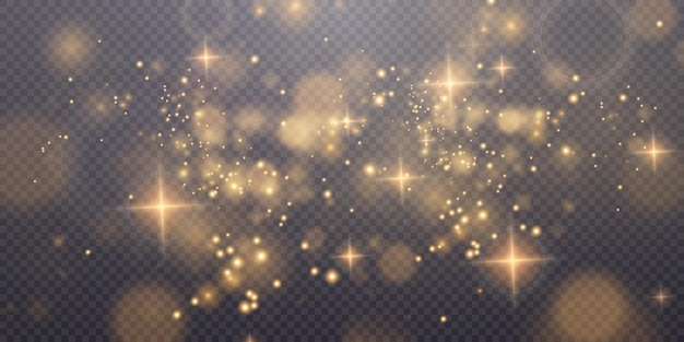 Navidad polvo dorado claro con estrellas brillantes de oro claro textura brillante navideña