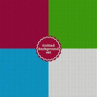 Navidad de punto de patrones sin fisuras establece diferentes colores