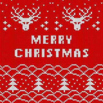 Navidad de punto de patrones sin fisuras. tejer textura para año nuevo, papel de regalo de feliz navidad.