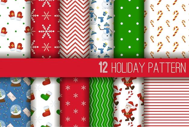 La navidad rayó el ejemplo inconsútil del fondo del estípite del papel de regalo de las vacaciones de invierno.