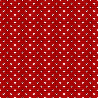 Navidad roja y blanca tejer de patrones sin fisuras
