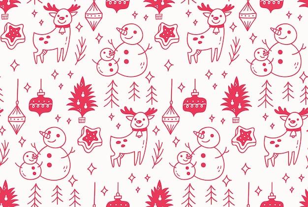 Navidad, seamless, patrón