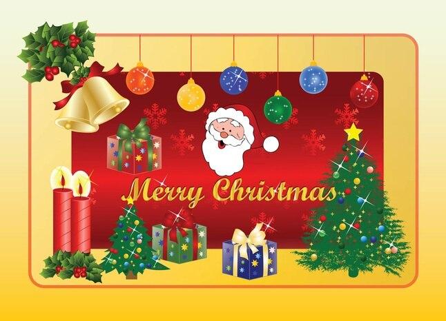 Navidad sin los gráficos vectoriales