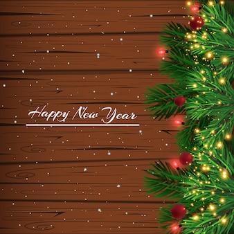 Navidad, tarjeta de felicitación de año nuevo.