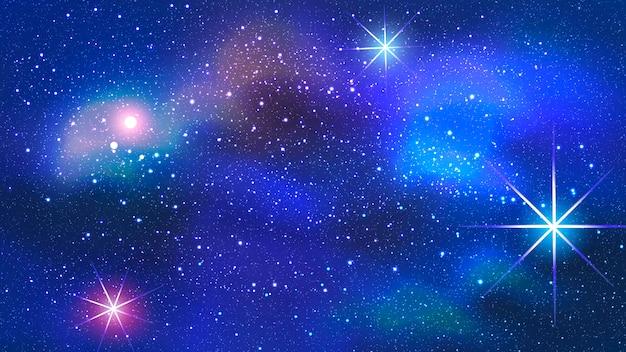 Nebulosa de colores en el fondo del espacio.