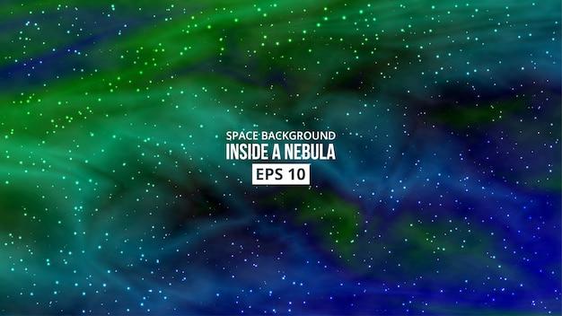 Nebulosa con fondo de estrellas.