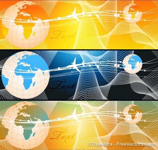 Negocio bandera gráficos vectoriales logo