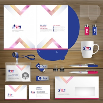 Negocio corporativo carpeta tecnología papelería empresa