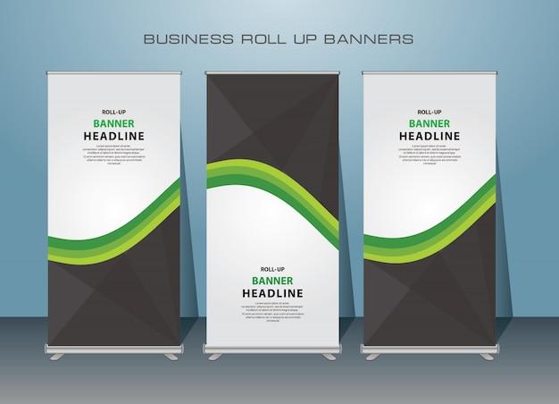 Negocio creativo roll up banner. diseño de banner de pie.