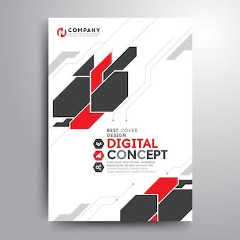 Negocio cubierta folleto plantilla electrónica digital formas