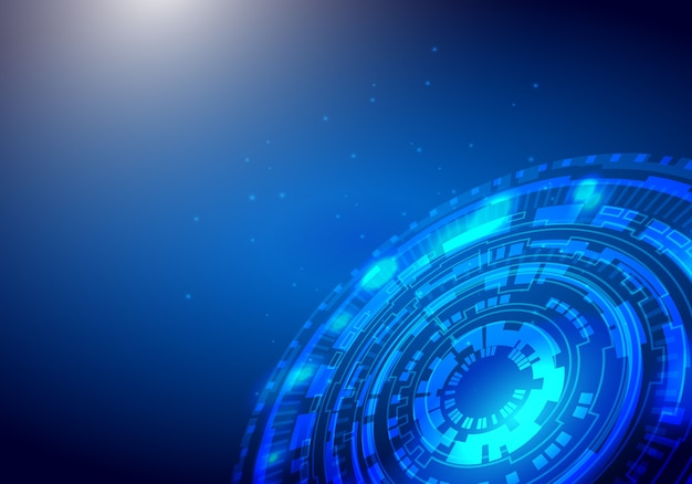 Negocio digital, vector tecnología círculo y tecnología de fondo.