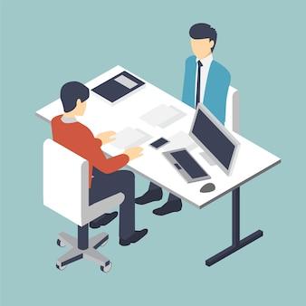 Negocio de entrevista de trabajo