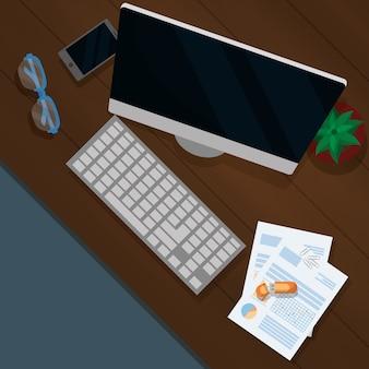 Negocio de finanzas personales de dibujos animados