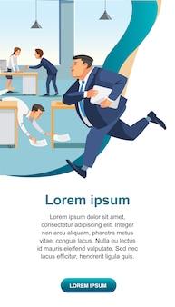 Negocio de gestión del tiempo y vector de productividad