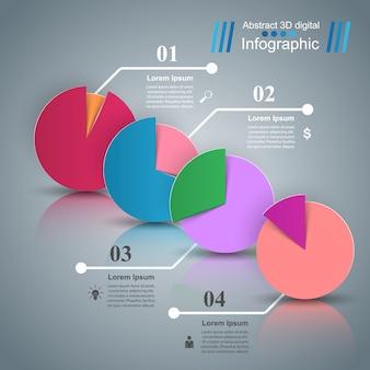 Negocio infografía origami estilo ilustración vectorial.