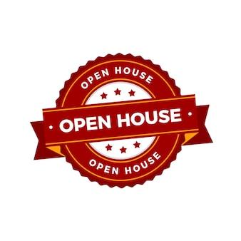 Negocio inmobiliario con etiqueta de casa abierta