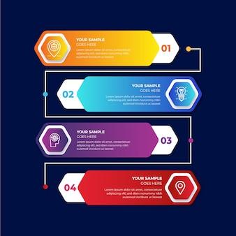 Negocio de línea de tiempo de infografía