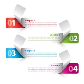 Negocio moderno de rayas con diagrama de escalera colorido y figuras ilustración vectorial