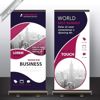 Negocio moderno roll up banner