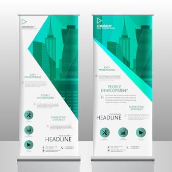 Negocio roll up banner diseño plantilla de vector