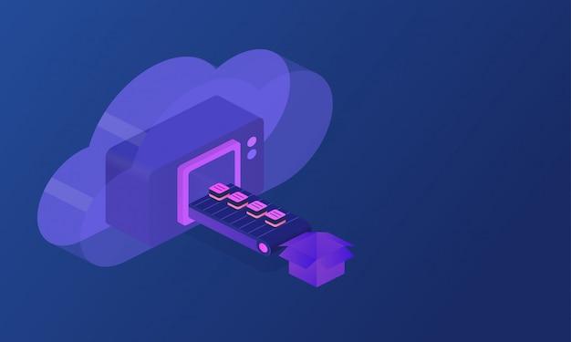 Negocio de tecnologia de nube web