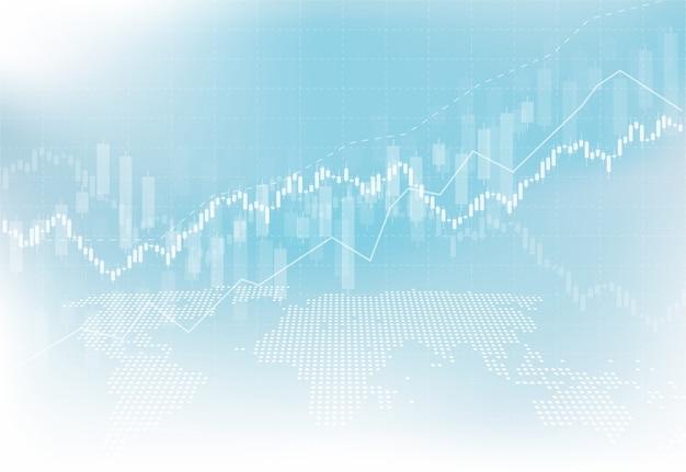 Negocio vela palo gráfico gráfico de la bolsa de inversión comercial