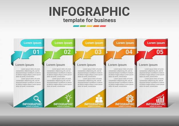 Negocios pasos para el éxito de datos de infografía.