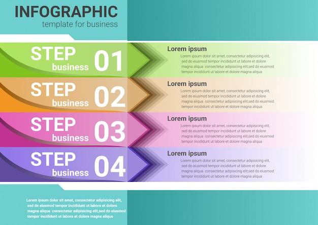 Negocios pasos para el éxito infografía datos