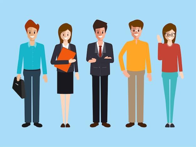 Negocios personas carácter trabajo en equipo corporativo.