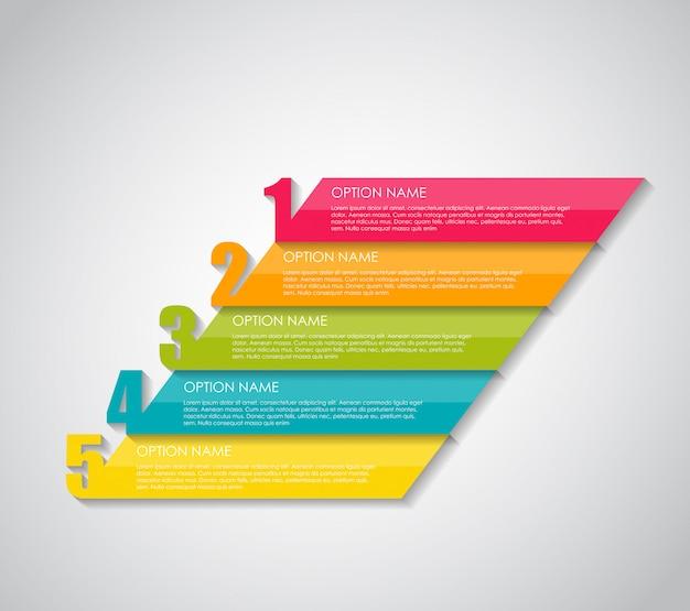 Negocios de plantillas de infografía