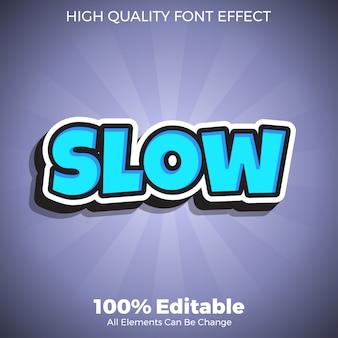 Negrita simple estilo de texto azul efecto de fuente editable