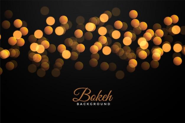 Negro con efecto bokeh dorado